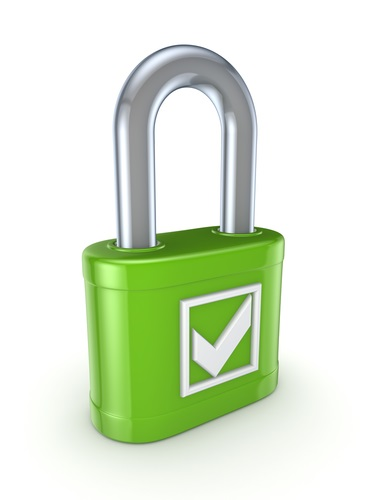 Lock with Green Checkmark